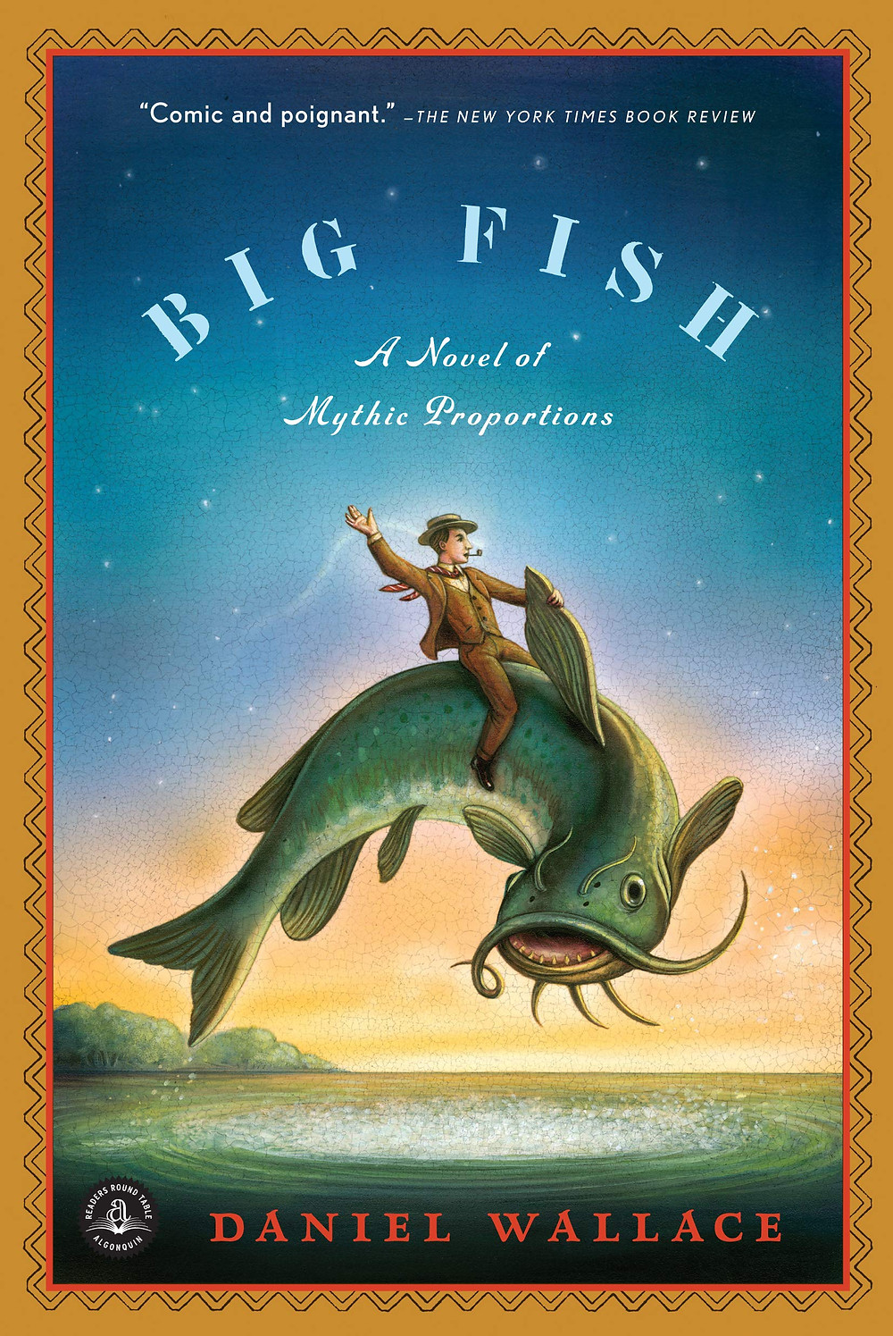 big fish by daniel wallace, big fish cover art, a novel of mythic proportions
