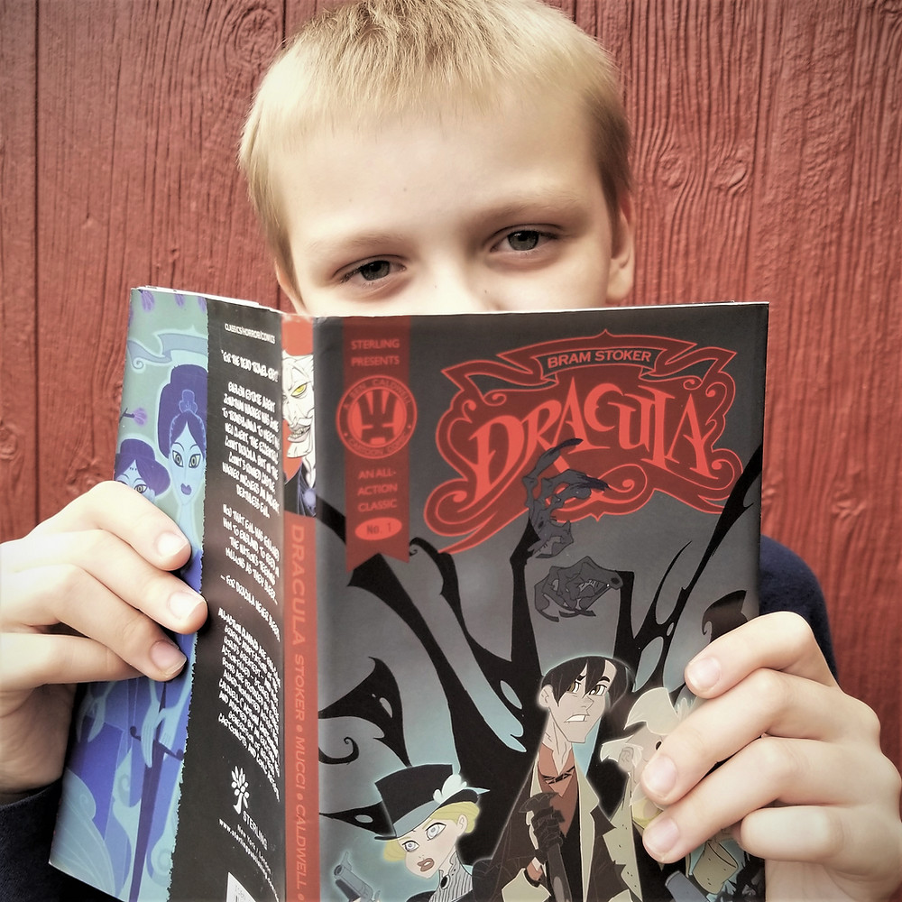 graphic novels for kids, dracula book summary, october children's book, all action dracula book review