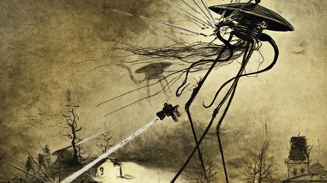 war of the worlds tripods, Martian tripod drawing, the war of the worlds by HG Wells review blog