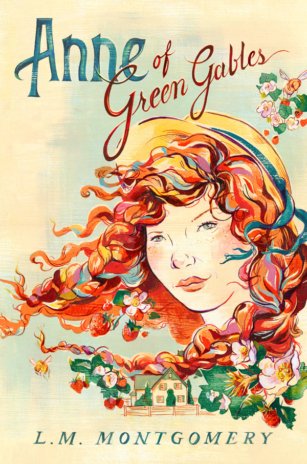 anne of green gables book cover, anne cover art, lm montgomery