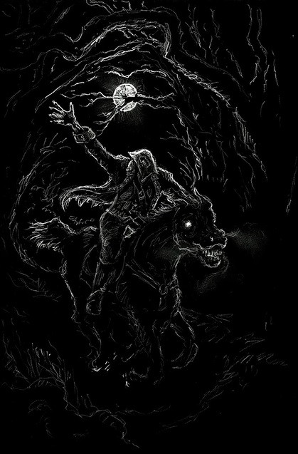 Headless Horseman picture, The Legend of Sleepy Hollow summary, spooky october books