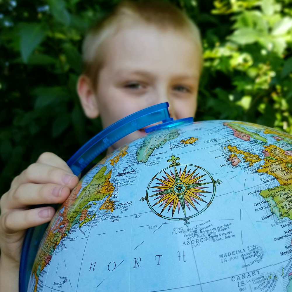 world map compass rose, travel bucket list, sphinx in egypt, north pole northern lights, notre dame rose window