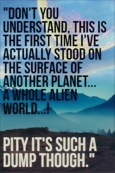 hitchhiker's guide to the galaxy quote, funny book quote image, middle school book recommendations