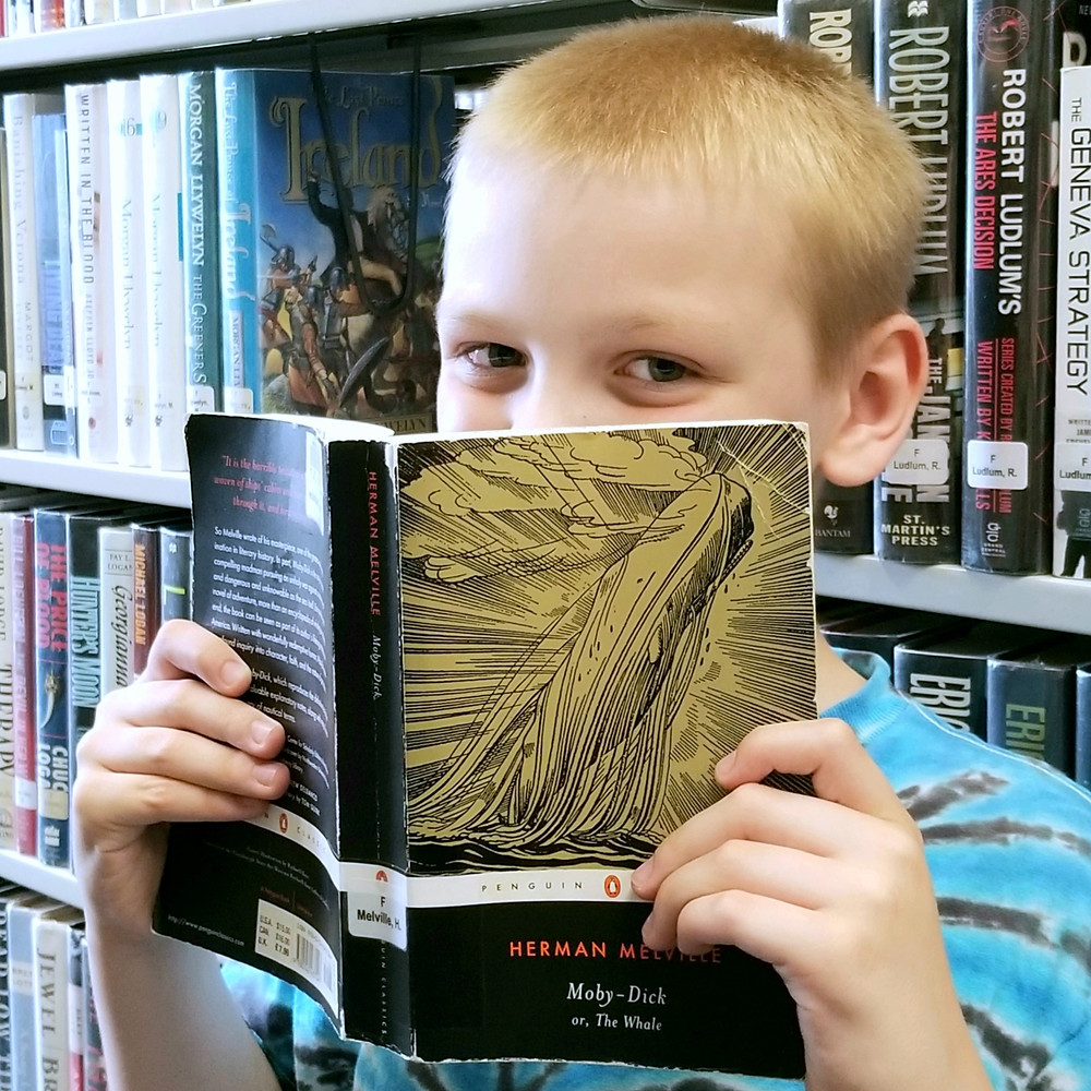 mensa kids reading list, public library book, moby dick by herman melville book report