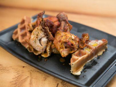 Indonesian Fried Chicken & Waffles Recipe