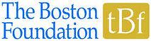 "Logo reads ""The Boston Foundation"" in blue serif font"