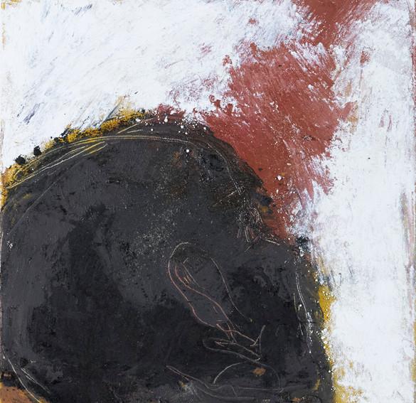 odysseus #7, 2021, öl, pigment auf leinwand, 30 x 30 cm