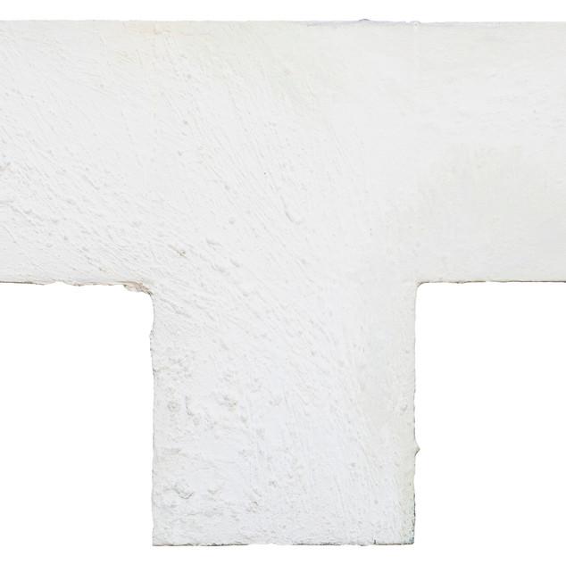 aus der serie 'übergänge' o.t., öl, pigment, verschiedene materialien auf leinwand, 60x90 cm