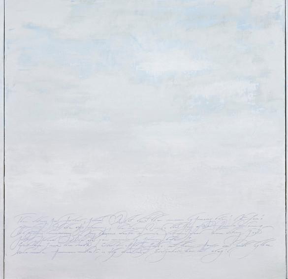 auf dem weg #4, frost scene, triptychon, 2021, kasein auf leinwand, 100 x 300 cm