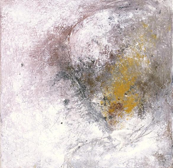 odysseus #4, 2021, öl, pigment auf leinwand, 30 x 30 cm