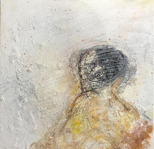 odysseus #1, 2021, öl, pigment auf leinwand, 70 x 70 cm