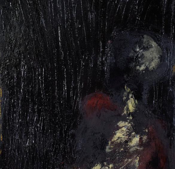 odysseus #10, 2021, öl, pigment auf holz, 51 x 96,5 cm