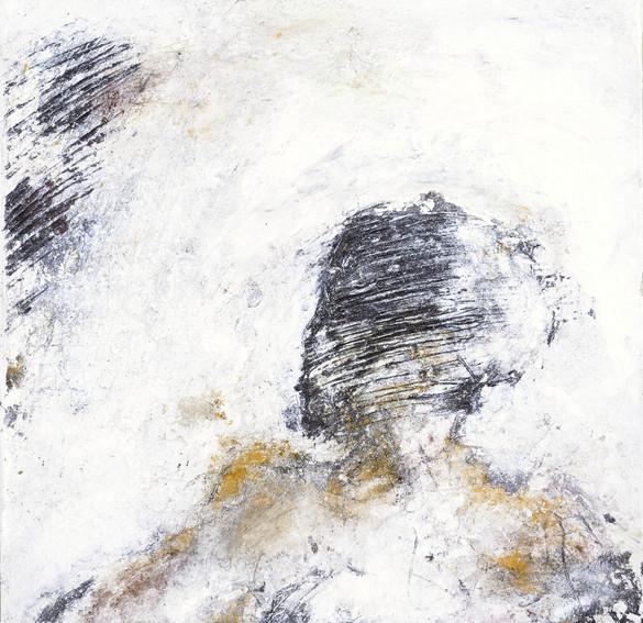 odysseus #6, 2021, öl, pigment auf leinwand, 70 x 70 cm