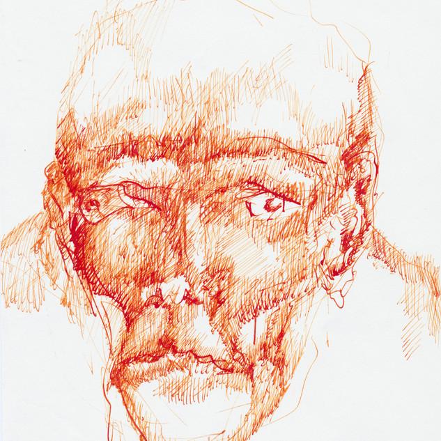 o.t., tusche auf papier, 21x14,8 cm, 2012