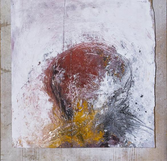 odysseus #9, 2021, öl, pigment auf holz, 53 x 45 cm