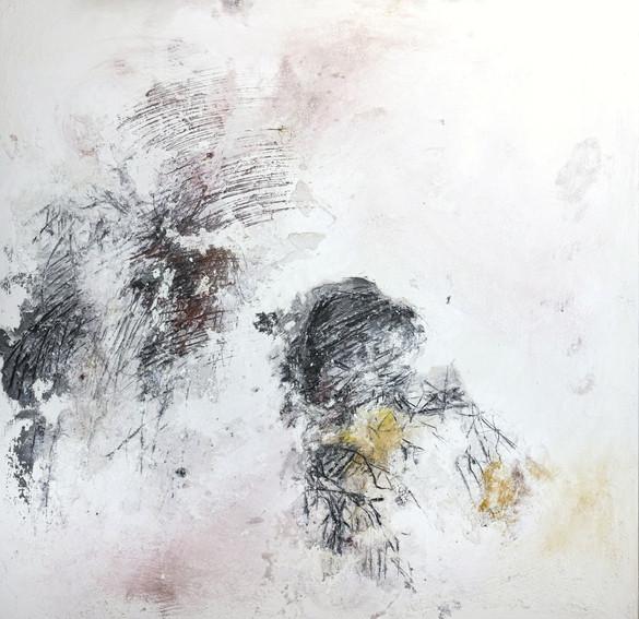 odysseus #3, 2021, öl, pigment auf leinwand, 140 x 140 cm