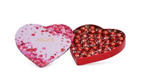 Lindt lança lata de coração, com mais de meio quilo de Lindor, para presentear no Dia dos Namorados