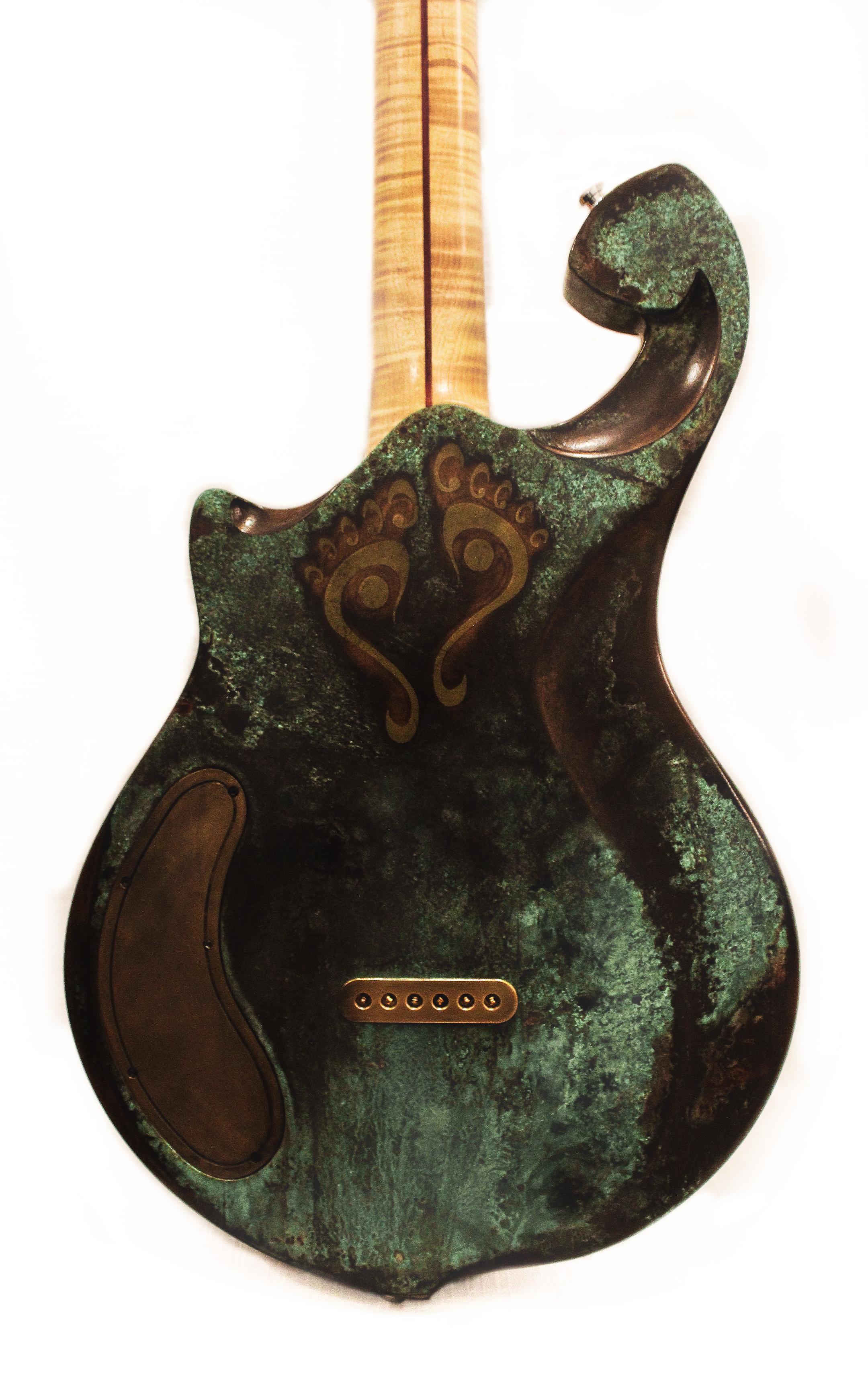 Brass inlay detail - Meridian