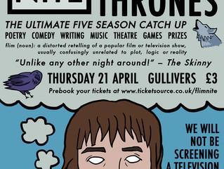Game of Thrones Flim Night Binge Watch Line Up!