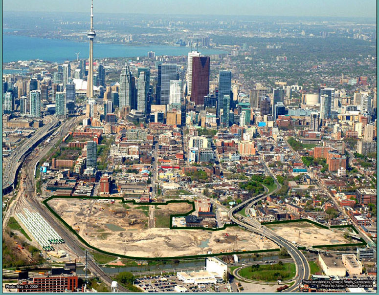 Province of Ontario $1 Billion plus Major Infrastructure projects of 95-acres West Don Lands
