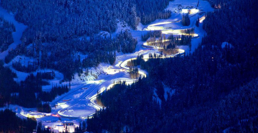 Whistler Sliding Centre Arial View