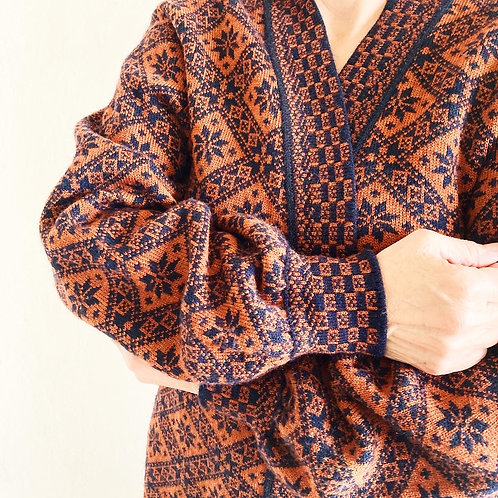 Suéter Naranja & Negro Oversized