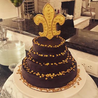 Fleur de Lis Flourless Chocolate Cake