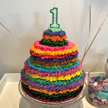 First Birthday Fiesta Cake