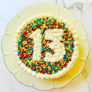 Sprinkle Number Cake