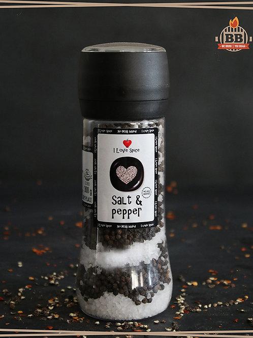 I Love Spice - Coarse Salt & Pepper 300g