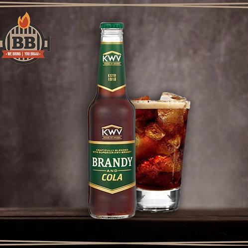 KWV Brandy & Cola 330ml X 6