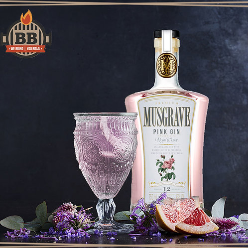Musgrave Pink Gin - Infused with Rose Water 750ml