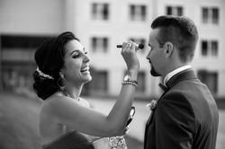 Puder für den Bräutigam