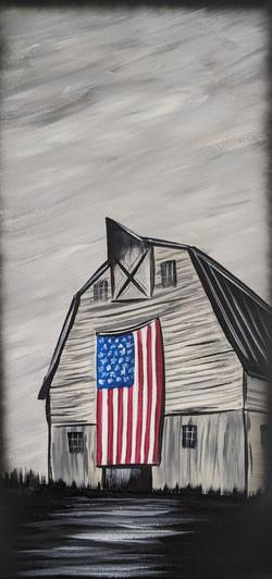 American Flag Barn