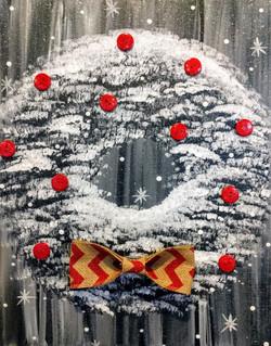 B&W Christmas Wreath
