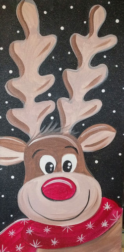 Long Canvas Rudolph