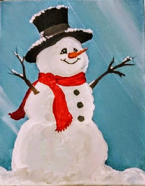 Wishing Snowman