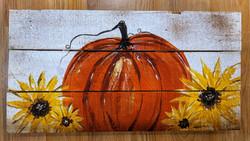 Pumpkin & Sunflowers Pallet