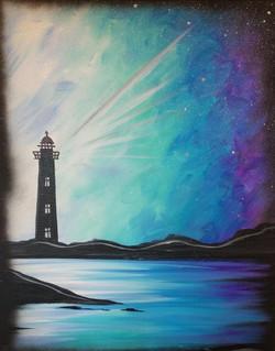 Evening Lighthouse Skies
