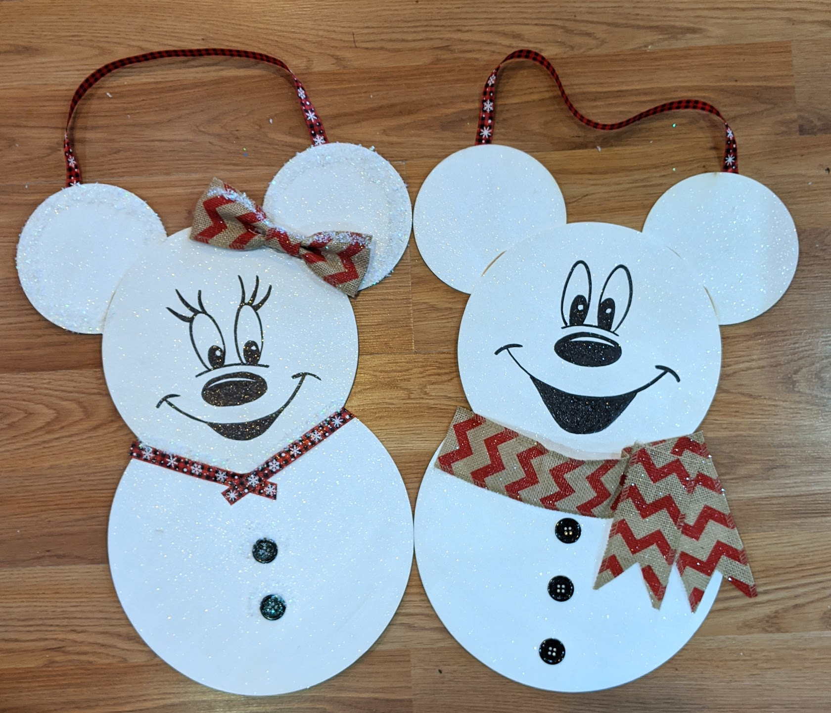 Mickey & Minnie Snowmen