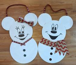 Mickey & Minnie Snowmen