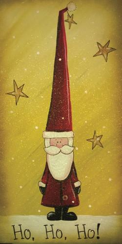 Vintage Tall Hat Santa