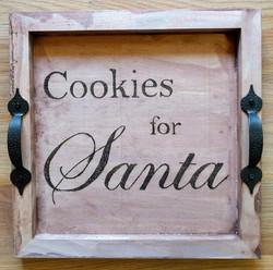 Wood Burnt Cookies For Santa Tray