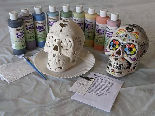 Ceramic Light-Up Sugar Skull