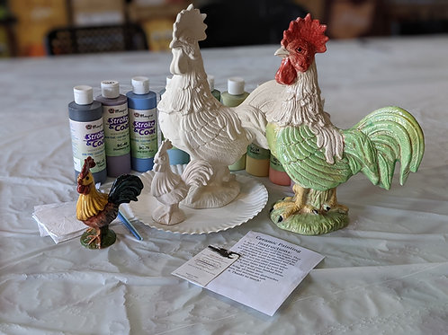 Ceramic Rooster Combo