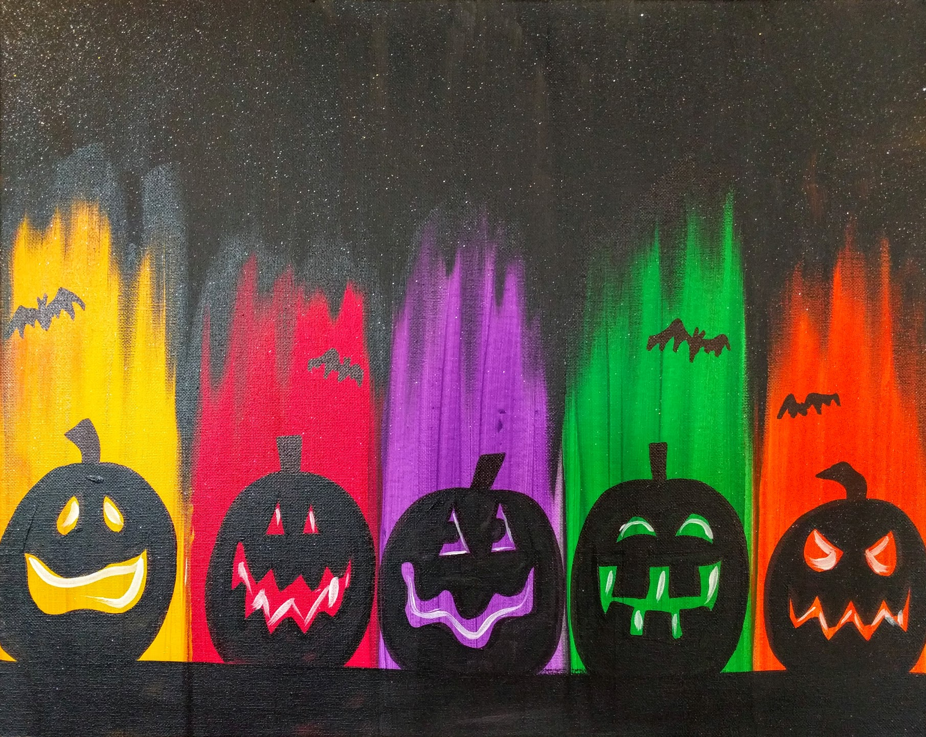 Colorful Jack-o-Lantern Line
