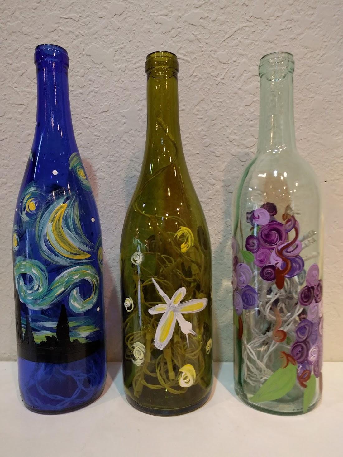 Wine Bottle Lights $25