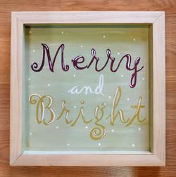 Merry & Bright Wood Aquare