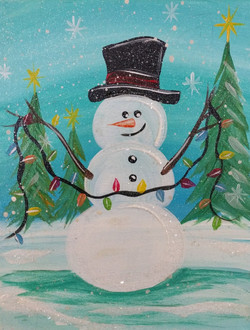 Snowman with Lights