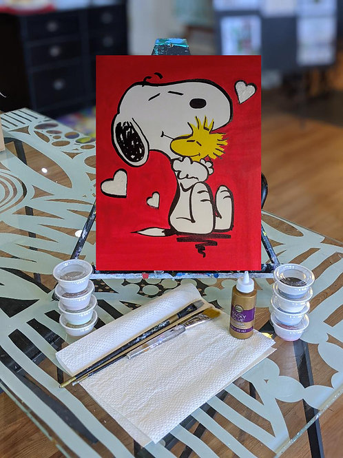 Canvas To-Go Kit: Snoopy Vday